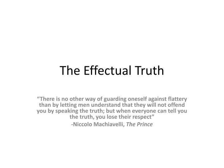 the effectual truth n.