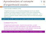 aproximacions al concepte d organitzaci escolar1