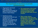 iv 1 l organisation du forum sur l entrepreneuriat juv nile