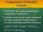 components of density volume
