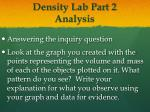density lab part 2 analysis