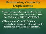 determining volume by displacement