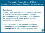 scientific committees scs act as the voice of the research community to science europe