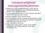 voedselveiligheid managementsystemen