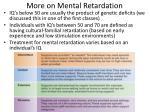 more on mental retardation