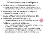 other ideas about intelligence