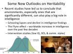 some new outlooks on heritability
