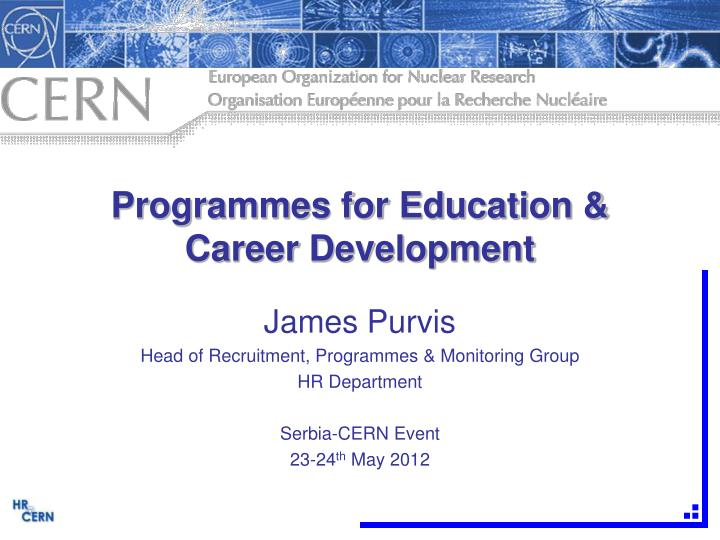 programmes for education career development n.