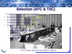 selection afc tsc