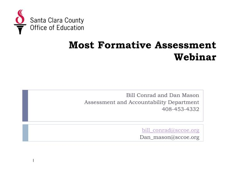 most formative assessment webinar n.