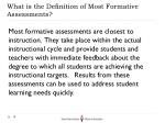 what is the definition of most formative assessments
