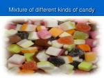 mixture of different kinds of candy