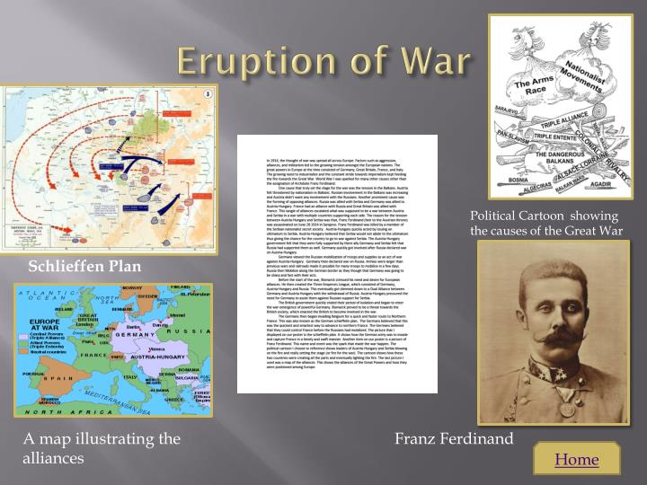E ruption of war