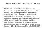 defining russian music institutionally