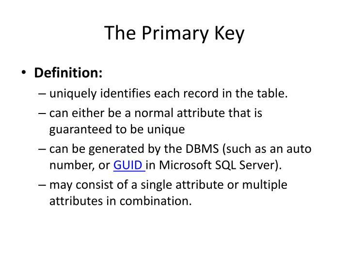 The Primary Key