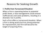 reasons for seeking growth6