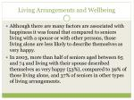living arrangements and wellbeing