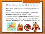 main ideas early middle ages