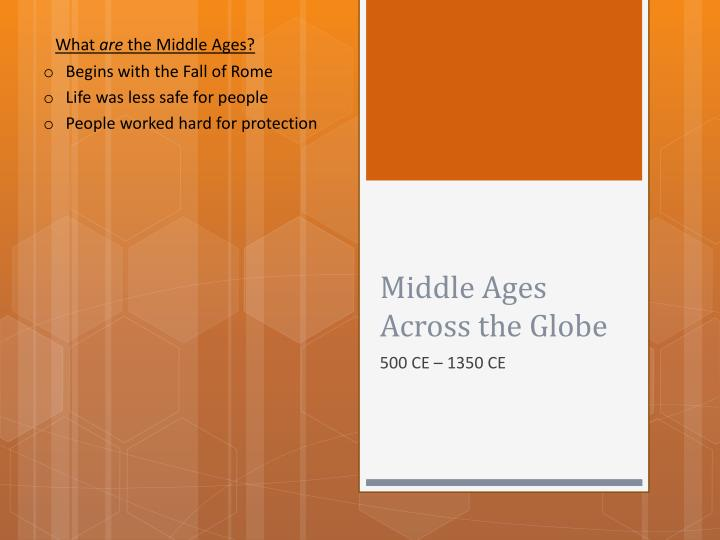 middle ages across the globe n.