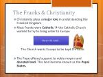 the franks christianity