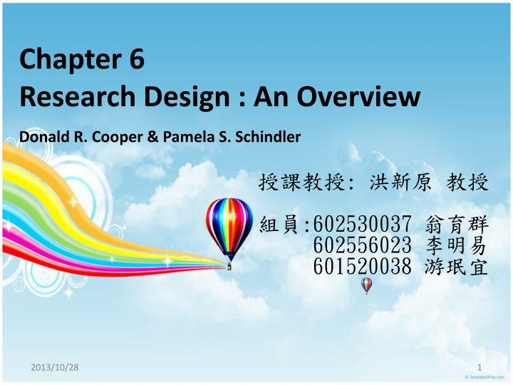 chapter 6 research design an overview n.