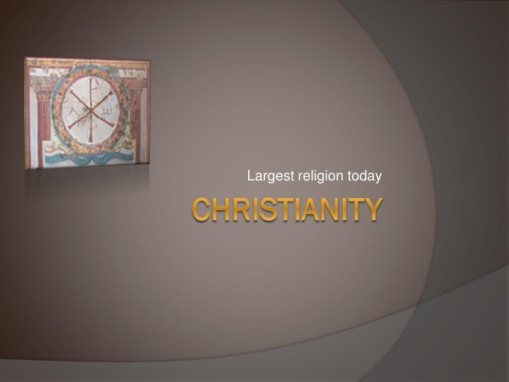largest religion today n.