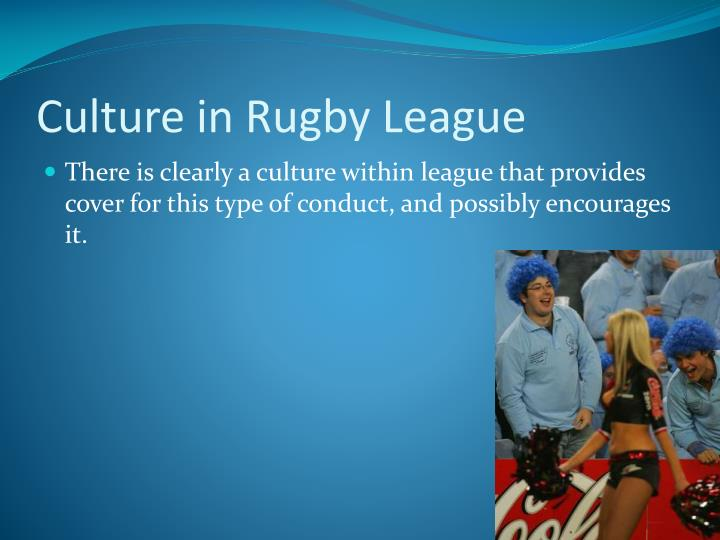 Culture in Rugby League