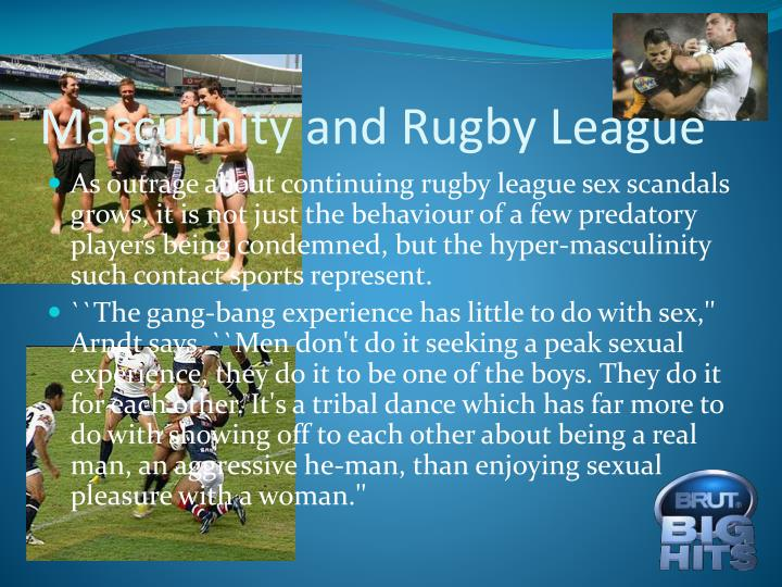 Masculinity and Rugby League