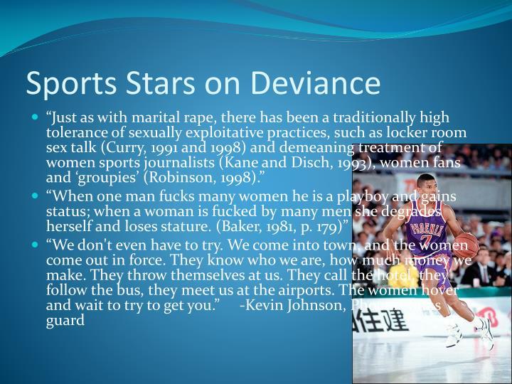 Sports Stars on Deviance