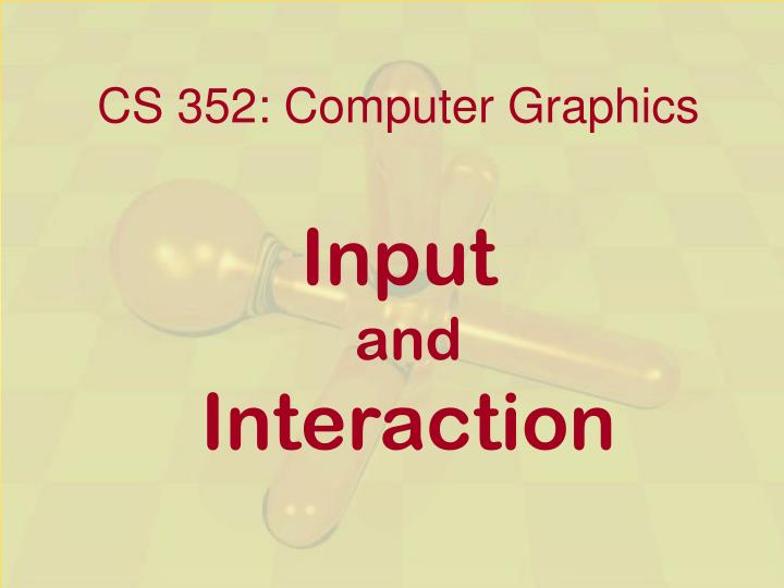 cs 352 computer graphics n.