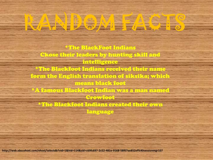 What Kind Of Food Did The Blackfoot Tribe Eat