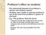 professor s effect on students
