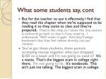 what some students say cont