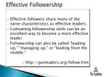 effective followership