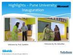 highlights pune university inauguration1