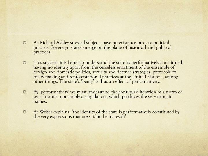 As Richard Ashley