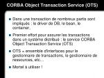 corba object transaction service ots