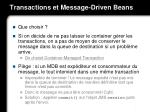 transactions et message driven beans1