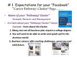 1 expectations for your facebook career pathway cluster page