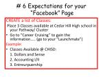 6 expectations for your facebook page