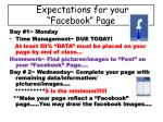 expectations for your facebook page