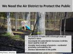 we need the air district to protect the public
