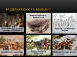 preservation of a remnant