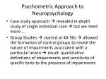 psychometric approach to neuropsychology