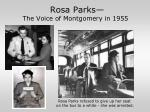 rosa parks the voice of montgomery in 1955