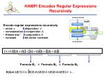 hampi encodes regular expressions recursively
