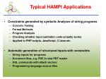 typical hampi applications