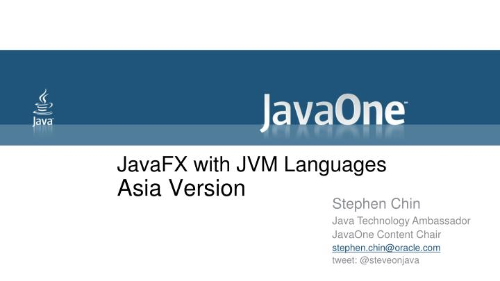 javafx with jvm languages asia version n.