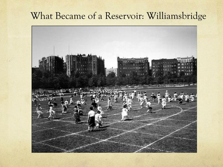 What Became of a Reservoir: