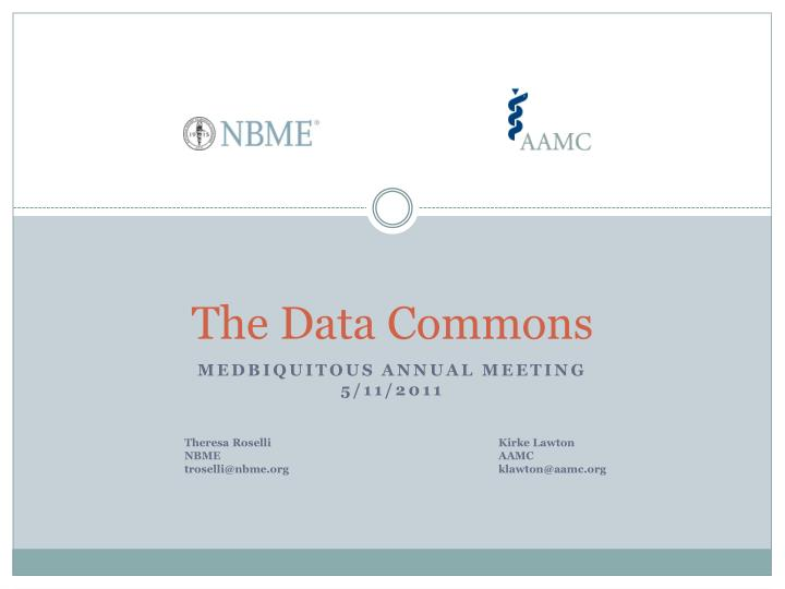 the data commons n.